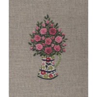 Jug of Roses. Hand Embroidery Kit