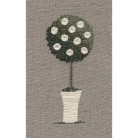 Rose Topiary Tree Kit. Hand Embroidery Kit