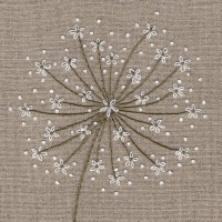 Wild Carrot – Beige Kit. Hand Embroidery Kit